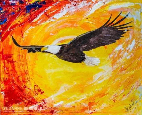 Galerie Susanne Herbold Originalwerk Freebird