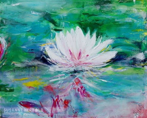 Galerie Susanne Herbold Originalwerk Lotus